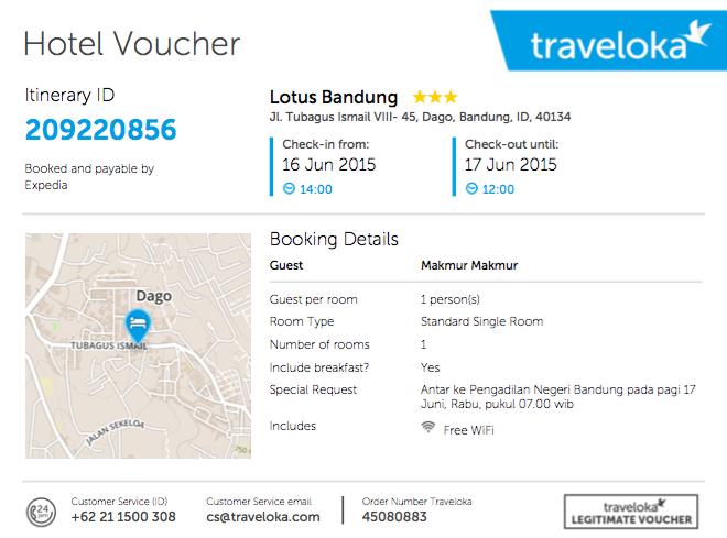 Semalam Di Bandung Dapat Lotus Di Traveloka Safariku Com